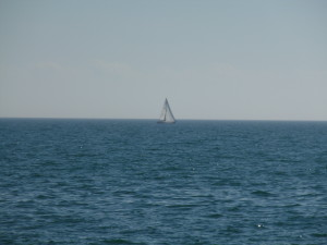 A sailboat on Lake Ontario