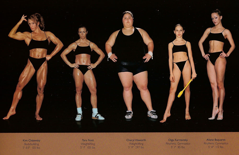 different body types olympic athletes howard schatz