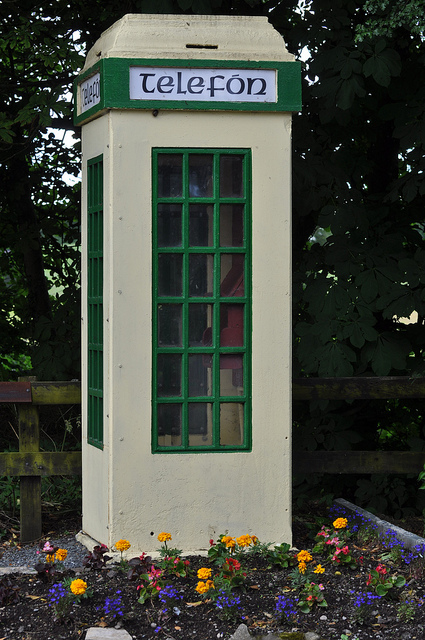old fashioned telephone booth