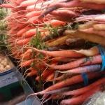 granville island market produce carrots