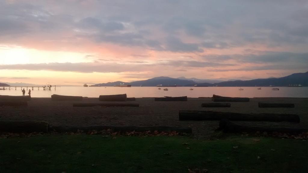 kitsilano beach, vancouver, sunset, BC