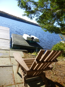 muskoka, ontario, clearwater lake, chair