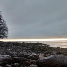 wreck beach, vancouver, UBC, sunset, ocean