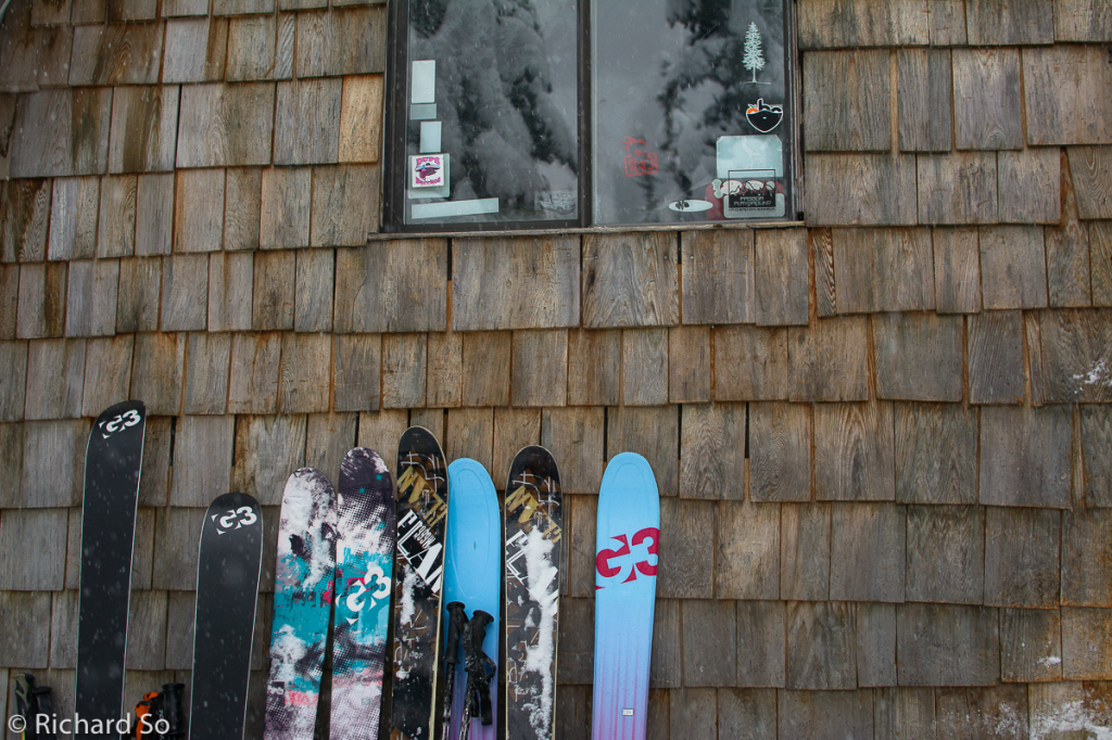 skis, backcountry skiing, ski hut
