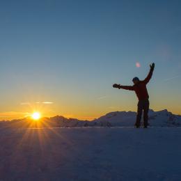 backcountry skiing, ski mountaineering, british columbia, sunset