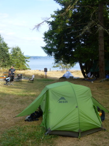 Ruckle Park, Saltspring Island, British Columbia, tent