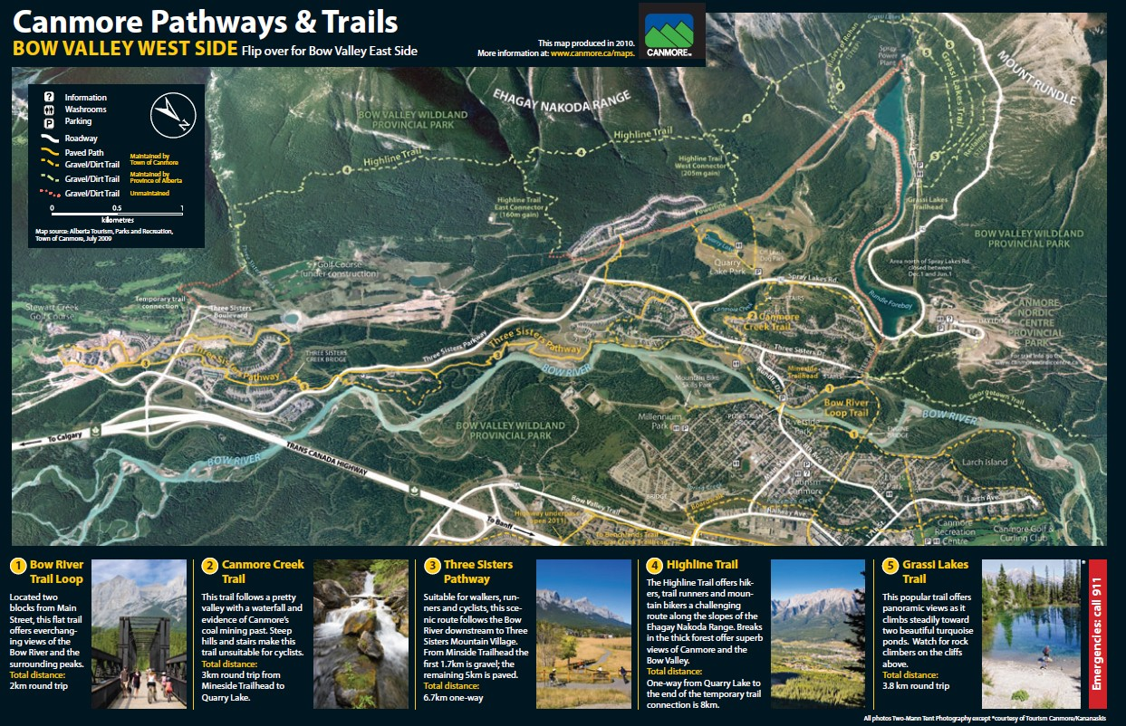 Canmore, Alberta, Trails, Map, Rockies