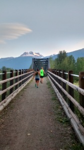 trail run, revelstoke, bridge, mount begbie
