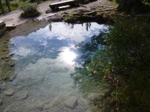 Ink Pots, Banff, reflection