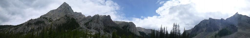banff, hike, panorama, mountains, mystic pass