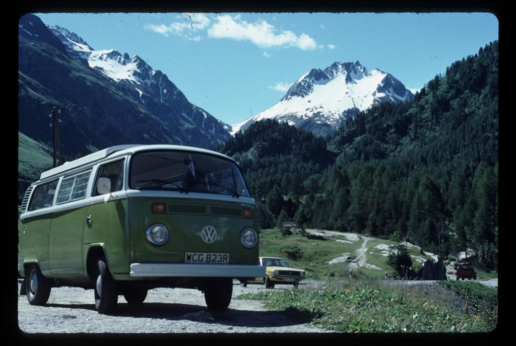 volkswagen, VW, camper, type 2, mountains, scenery
