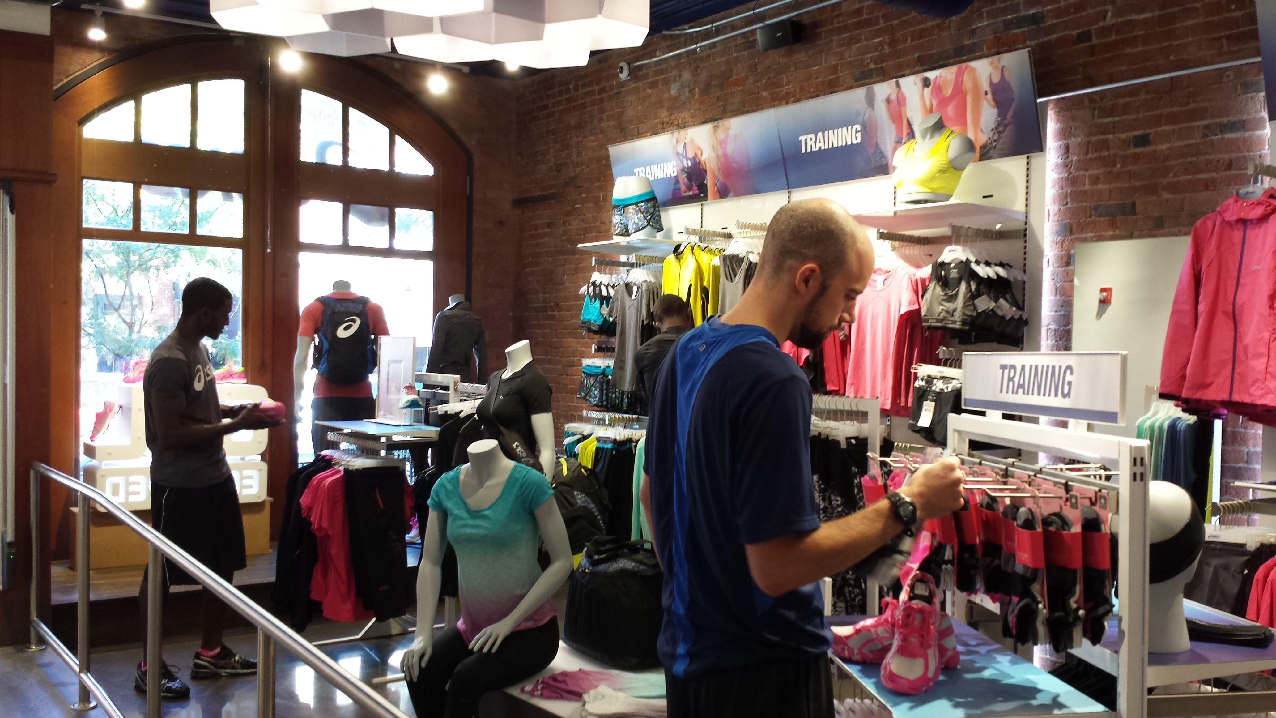 asics, store, shopping, apparel, boston