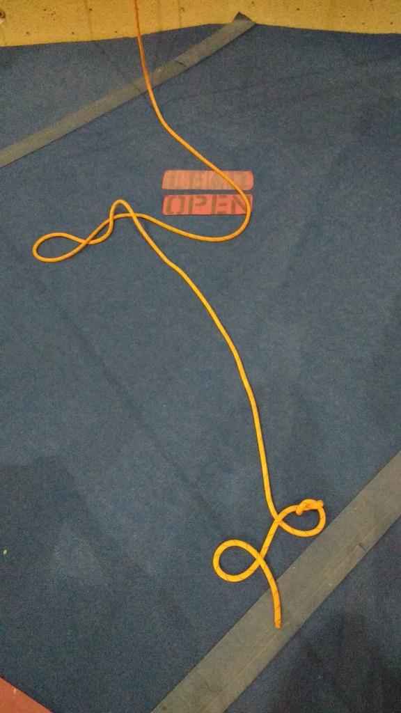 climbing rope, figure eight, lead area