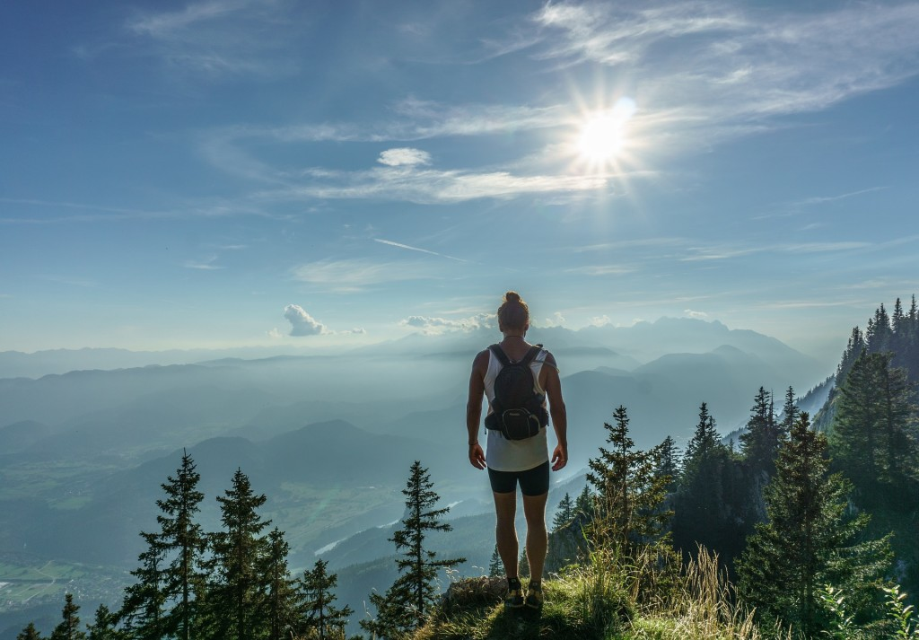woman, hiker, hike, mountain, girl