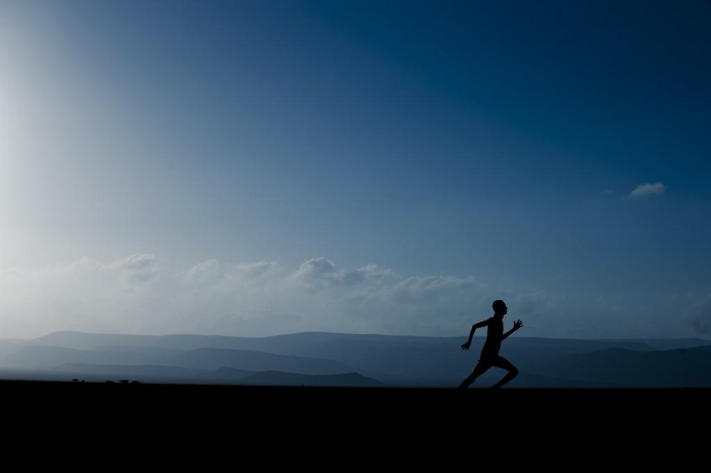runner, running, landscape, mountains, trail run