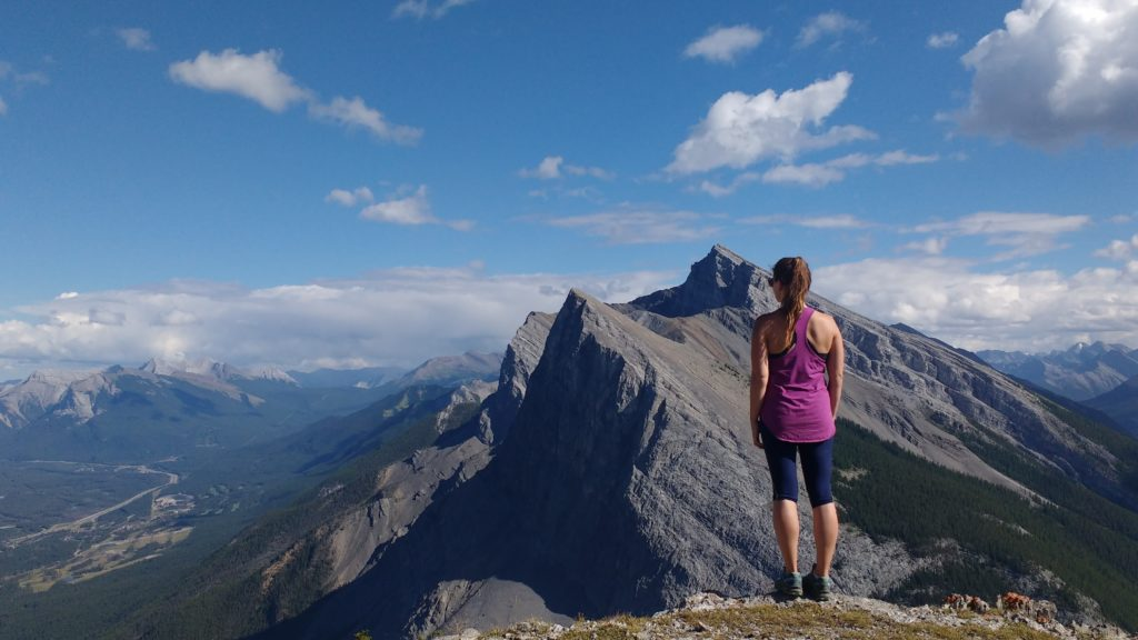 mountain, woman, Canmore, Rockies, hiking, 35 trails