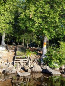 algonquin park, campsite, staircase